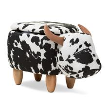 See Details - Baxton Studio Mignonne Contemporary Wool Upholstered Buffalo Storage Ottoman