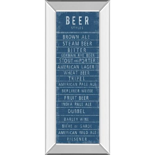 """""""Beer Styles"""" By The Vintage Collection Mirror Framed Print Wall Art"""