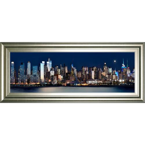 """New York At Night XI"" By James Mcloughlin Framed Print Wall Art"