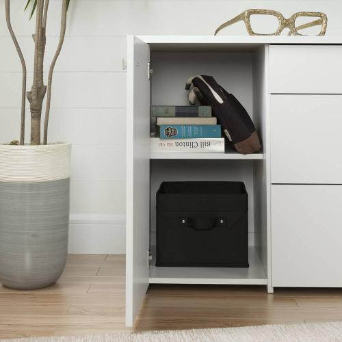 Storage Unit with File Drawer - Pure White