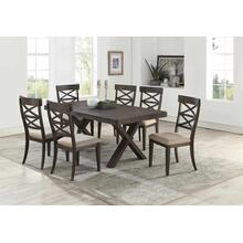 7811 7PC Wire Brushed Dining Room SET