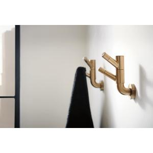 Rotating Double Robe Hook With Knurling