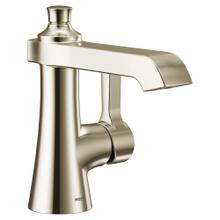 Flara Polished nickel one-handle high arc bathroom faucet