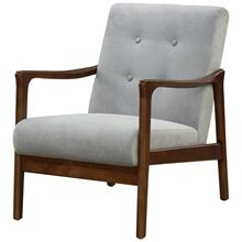 Nicholas KD Arm Chair Dark Walnut Frame, Studio Gray