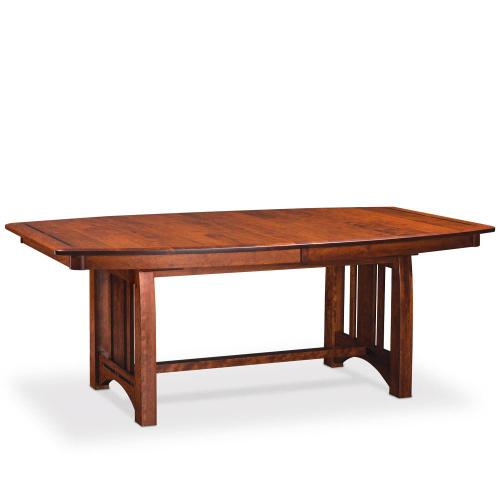 Simply Amish - Aspen Trestle Table with Inlay, 48'w x 72'l / Solid Top