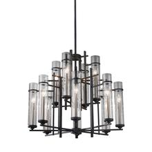 Ethan Extra Large Chandelier Antique Forged Iron / Brushed Steel