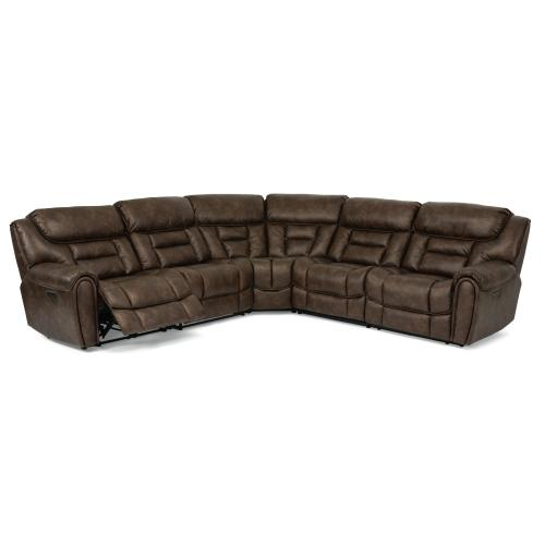 Buster Power Reclining Sectional with Power Headrests
