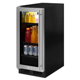 15-In Built-In Beverage Center with Door Style - Stainless Steel Frame Glass, Door Swing - Left