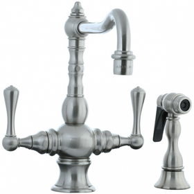 Highlands - T-Body Kitchen Faucet with Side Spray - Polished Nickel