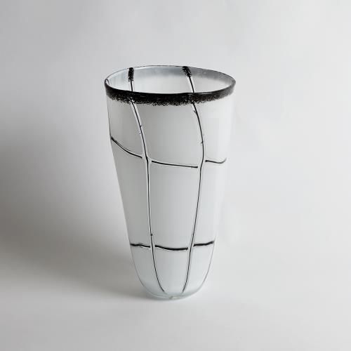 Abstract Grid Vase-Lg