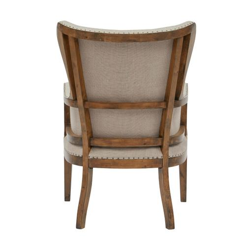 Curved Back Arm Chair - Linen
