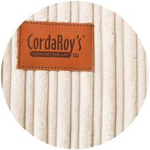 Footstool Cover - Terry Corduroy - Ecru