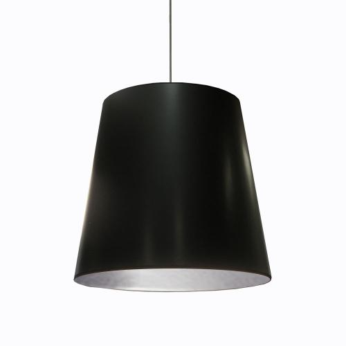 1lt Oversized Drum Pendant, Large - Blk/slv