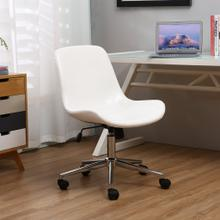 Nordland Faux Leather Upholstery Adjustable Swivel Office Chair, White