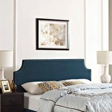 View Product - Laura King Upholstered Fabric Headboard in Azure