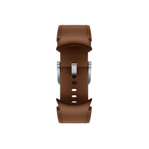 Samsung - Galaxy Watch4, Galaxy Watch4 Classic Hybrid Leather Band, S/M, Camel