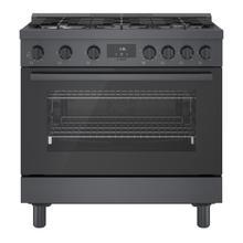 See Details - 800 Series Gas Freestanding Range 36'' Black stainless steel HGS8645UC