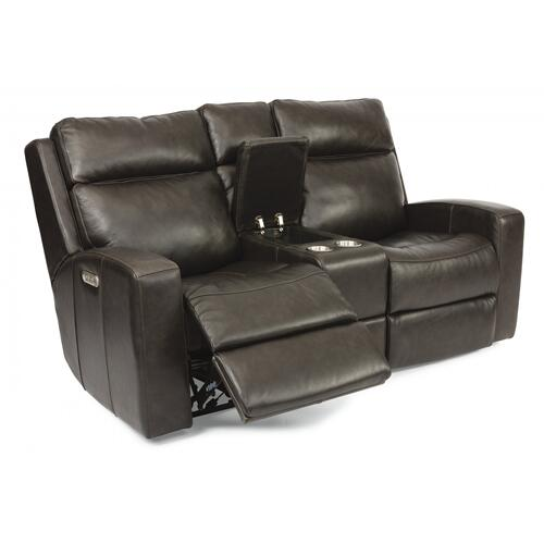Cody Power Reclining Loveseat with Console & Power Headrests