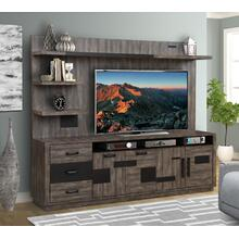 RIVER ROCK - SILTSTONE TV Console with Hutch