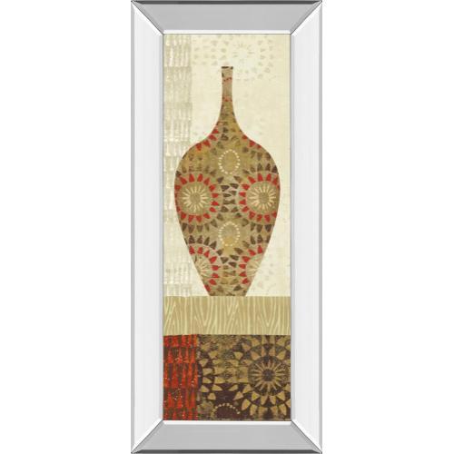 "Classy Art - ""Spice Stripe Vessels Panel III"" By Wild Apple Portfolio Mirror Framed Print Wall Art"