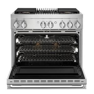 """JennAir - NOIR 36"""" Dual-Fuel Professional Range with Gas Grill"""