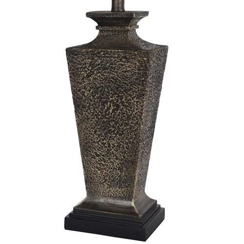 Bossier  Texture Chestnut Design  Traditional Table Lamp  100 Watts  3-Way