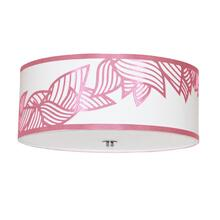 4lt Flush-mount Polished Chrome Pink & White Shade