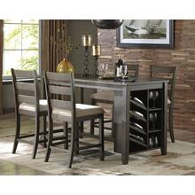 4 PIECE SET (PUB TABLE AND 4 BARSTOOLS)