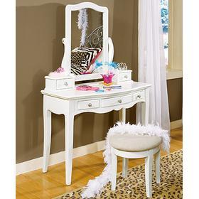 Vanity Desk and Bench Set