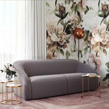 View Product - Yara Pleated Grey Velvet Sofa