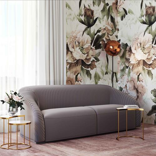 Product Image - Yara Pleated Grey Velvet Sofa by Inspire Me! Home Decor