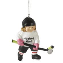 """Hockey Girl"" Ornament"