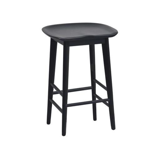 """Gallery - Hilton 24"""" Backless Counter Stool, Black"""