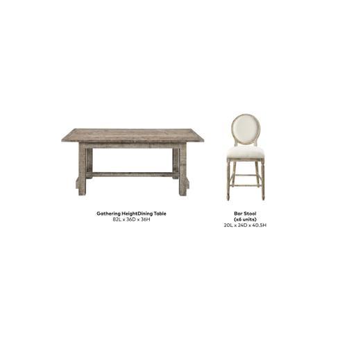 Interlude Gathering Height Dining Set, Sandstone Buff D560-13-05-7pcset-k