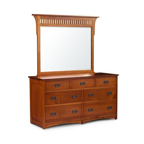 Prairie Mission 7-Drawer Dresser, Medium