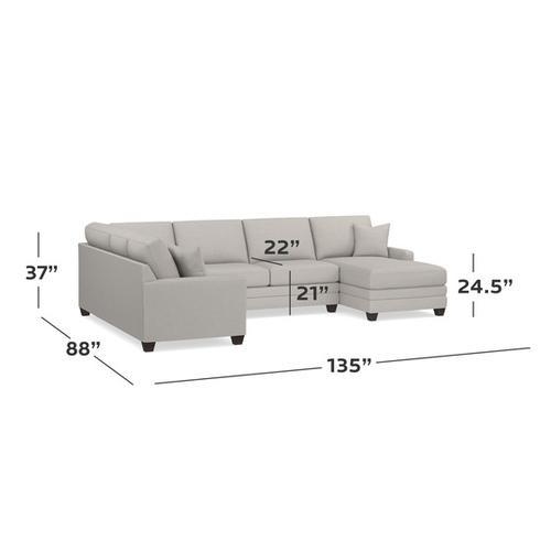 Bassett Furniture - Carolina Thin Track Arm U-Shaped Sectional