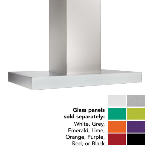 BEST Range Hoods - 36-inch Island Range Hood, 650 Max Blower CFM, Stainless Steel, Without Glass (ICB3 Series)