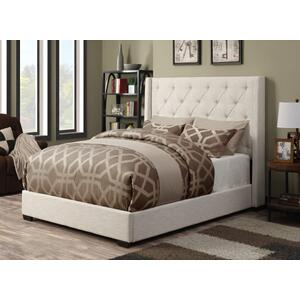 Contemporary Shelter Queen Upholstered HB