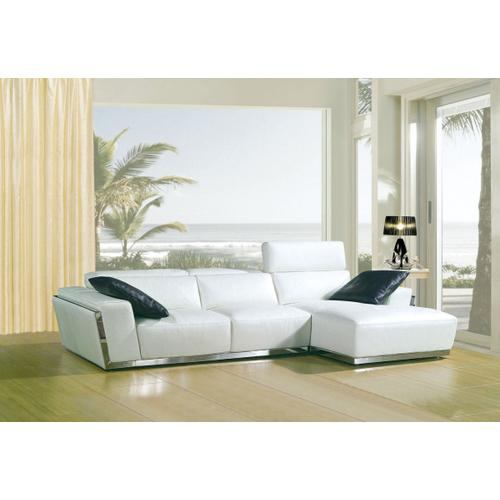 Divani Casa 8010C - Modern Bonded Leather Sectional Sofa