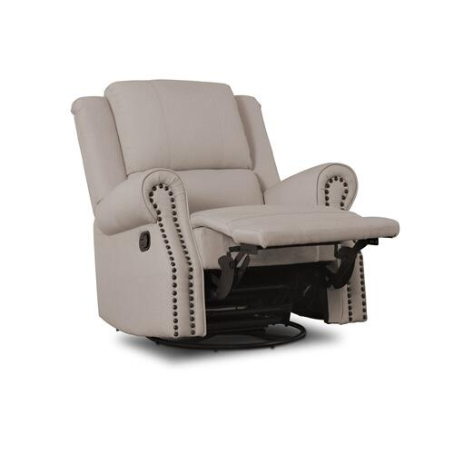 Drake Nursery Recliner Swivel Glider Chair - Flax (710)
