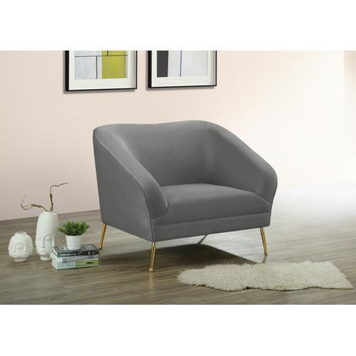 "Hermosa Velvet Chair - 42.75"" W x 34.5"" D x 34.25"" H"