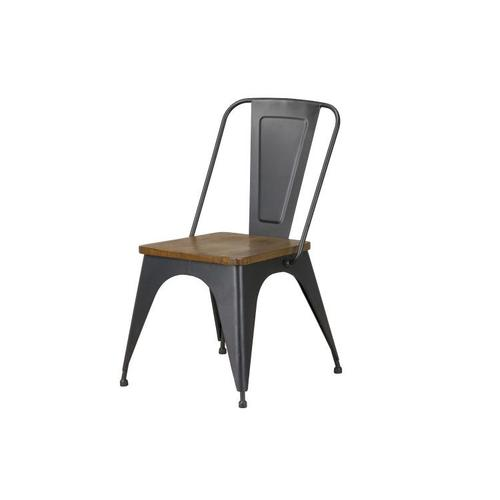 Standard Furniture - Nelson Brown Metal Side Chair
