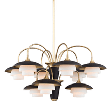View Product - Chandelier - AGED BRASS