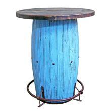 See Details - Light Blue Scraped Barrel Bar