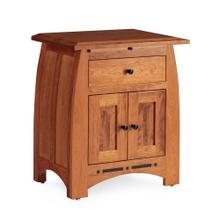 See Details - Aspen Nightstand with Doors and Inlay