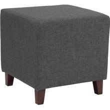 See Details - Ascalon Upholstered Ottoman Pouf in Dark Gray Fabric