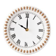 Round Beaded Frame Desk Clock