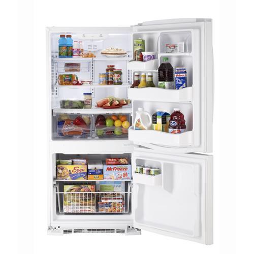 MBR20DTEWW - White on White Moffat 20.2 Cu. Ft. Bottom-Freezer Refrigerator