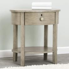 Farmhouse Nightstand with Drawer - Textured Limestone (1340)