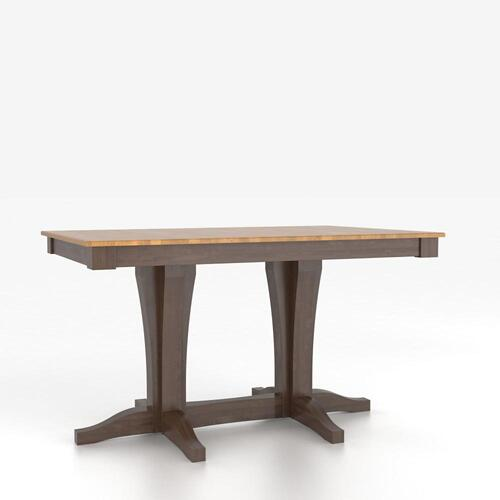 Rectangular table with pedestal